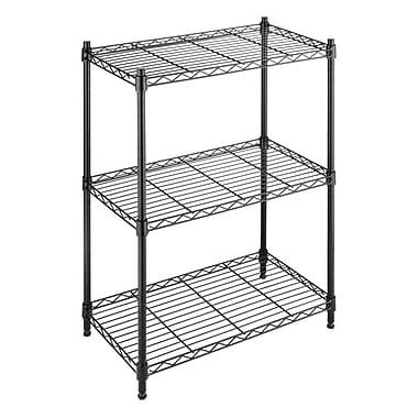 Whitmor, Inc Supreme Small 3 Tier 29.9'' Three Shelf Shelving Unit; Black
