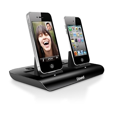 i.Sound ISOUND-1689 Dual Power View Display/Charging Docks for iPhone® and iPod®