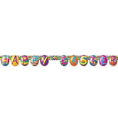 Banderoles œufs colorés, 5 po x 4 pi 6 po, 5/paquet