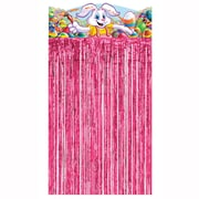 """Beistle 4' 6"""" x 3' Easter Bunny Character Curtain, 2/Pack"""