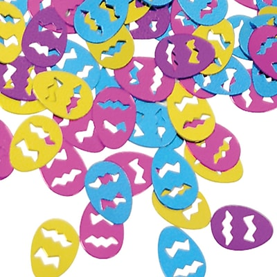 Beistle Easter Eggs Fanci Confetti, Assorted, 5/Pack
