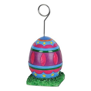 Beistle 6 oz. Easter Egg Photo/Balloon Holder, 3/Pack
