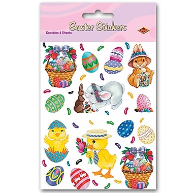 Bunny, Basket & Egg Stickers, 4-3/4