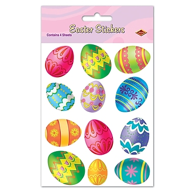 Easter Egg Print Stickers, 4-3/4