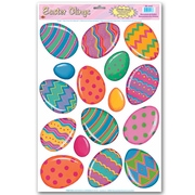 """Beistle 12"""" x 17"""" Color Bright Easter Egg Clings, 112/Pack"""