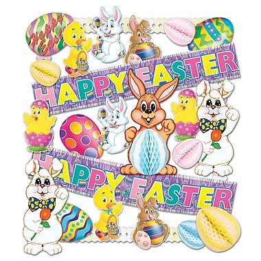 Easter Decorating Kit, 26-Piece Assorted Decoration Kit