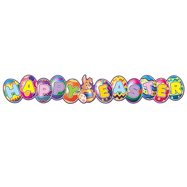 Banderole « Happy Easter », 35 po, paquet de 8