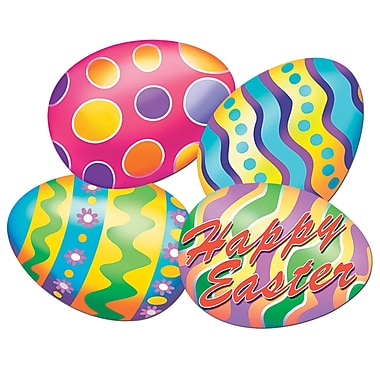 Packaged Easter Egg Print Cutouts, 16