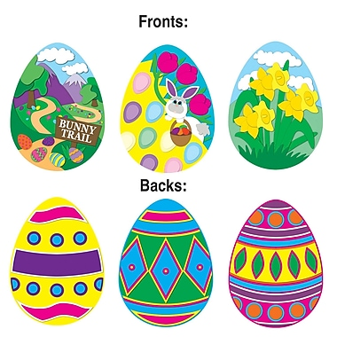 Paquet de découpes « Œufs de Pâques », 14 po, paquet de 15