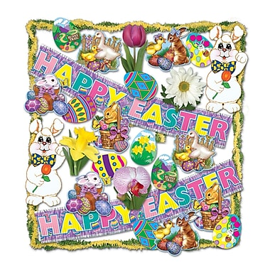 Easter Trimorama, 26-Piece Assorted Decoration Kit