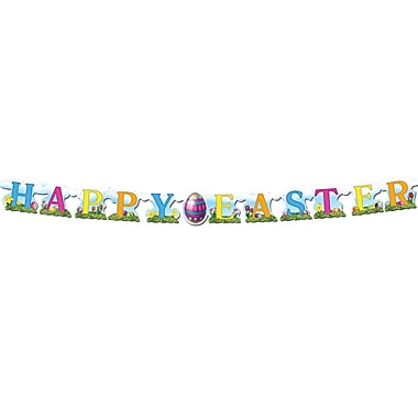 Banderoles « Happy Easter », 4 1/2 po x 5 pi, paquet de 5