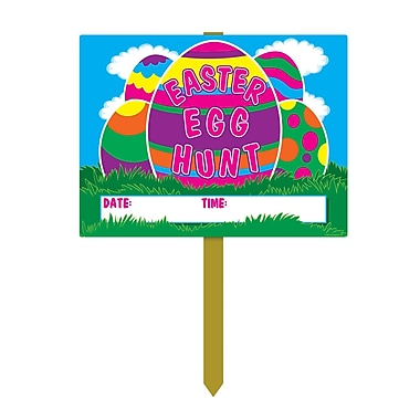 Plastic Easter Egg Hunt Yard Signs, 11