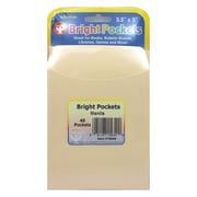 Hygloss Non Adhesive Library Pocket, Manila, 240/Pack (HYG15649)