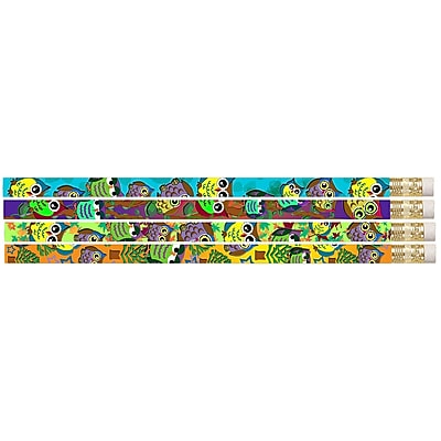 Musgrave Pencil Company Owl Corral Motivational Pencil, 12/Pack