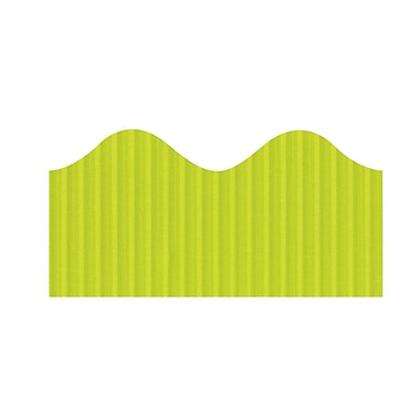 Pacon Corporation – Bordure décorative festonnée 37056, 2,25 po x 50 pi, vert lime, 6/paquet (PAC37056)