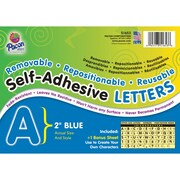 "Self-Adhesive Letter, Fade Resistant, 2"", 159 Characters, Blue"