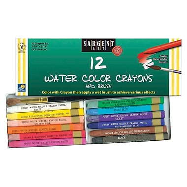 Sargent Art® Water Color Crayons & Brush Set