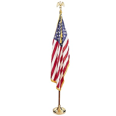 Annin & Company Complete Mounted Us Flag Set, 3' X 5'
