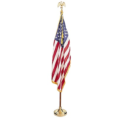 Annin & Company Indoor Complete Mounted US Flag Set, 3' x 5'