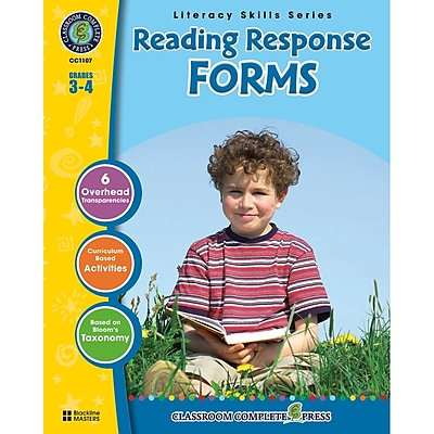 Classroom Complete Press Reading Response Forms Book, Grade 3 - 4