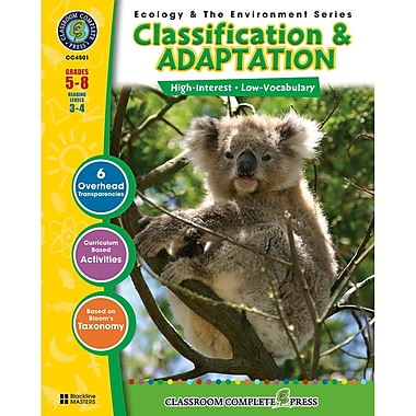 Classroom Complete Press Ecology & The Environment Classification & Adaptation Book, Grades 5-8
