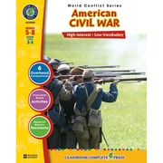 Classroom Complete Press World Conflict Series American Civil War Activity Book, Grade 5 - 8 (CC5500)