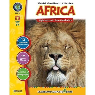 Classroom Complete Press World Continents Series Africa Resource Book, Grades 5 - 8