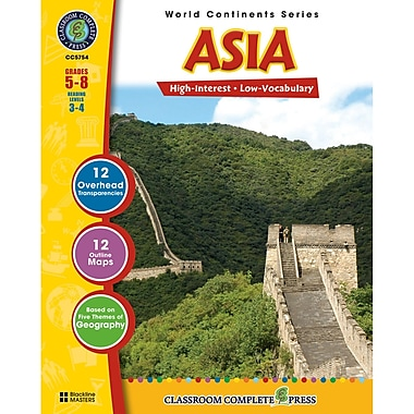 Classroom Complete Press World Continents Series Asia Resource Book, Grade 5 - 8 (CCP5754)