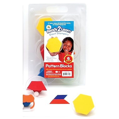 Center Enterprises Ready2Learn™ Giant Pattern Blocks Stampers, 3