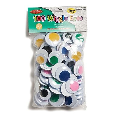 Charles Leonard Chl64570 Wiggle Eyes Assorted Colours, 100/Pack (CHL64570)