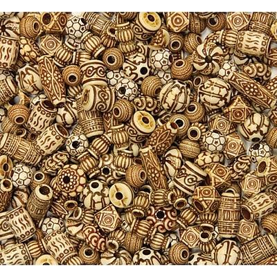 Chenille Kraft CK-3259 Natural Bone Beads, 54/Pack
