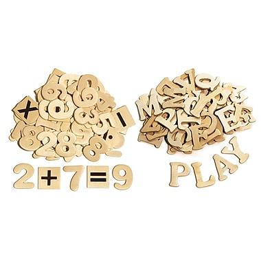 Chenille Kraft – Ensemble de lettres et chiffres en bois, 1 1/2 po (CK-3623)