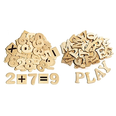Chenille Kraft® Wood Letters & Numbers Set, 1 1/2