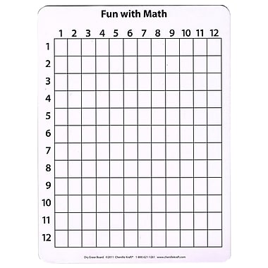 Chenille Kraft 2 Sided Math Whiteboard, 12
