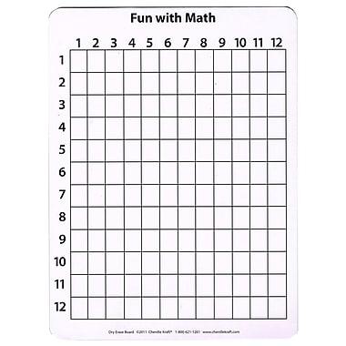 Chenille Kraft – Tableau blanc pour mathématiques recto verso, 12 x 9 po, 10/paquet (CK-987610)