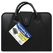 C-Line File Pocket with Handles, Hook and Loop Closure, Letter Size, Black (CLI48211)