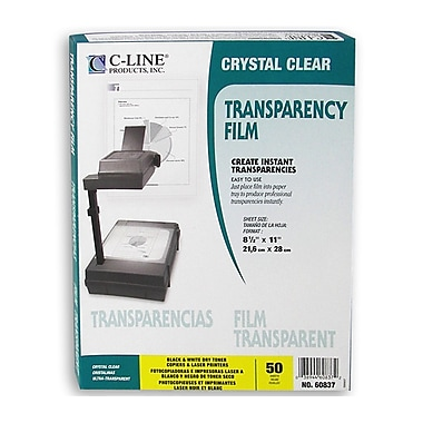 C-Line® Laser Printer/Plain Paper Copier Film, Clear, 50/Pack