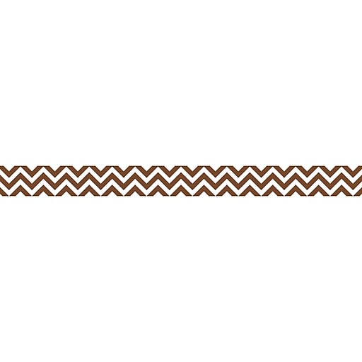 "Creative Teaching Press 0168 35' x 3"" Straight Chevron Border, Chocolate"