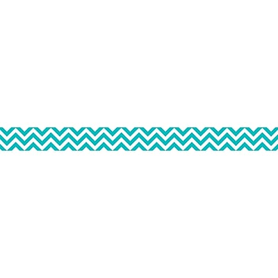 Creative Teaching Press® Chevron Border, Grades Toddler - 12, Turquoise (CTP0169)