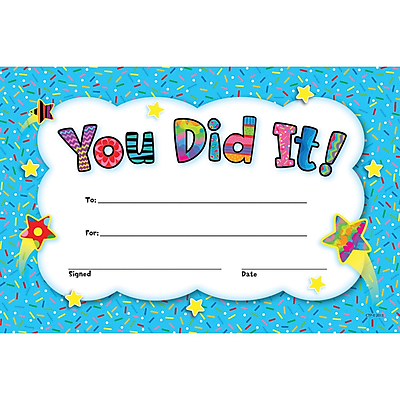 Creative Teaching Press® You Did It! Award, 30/Pack