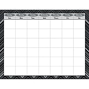 Creative Teaching Press® Calendar Poster Chart, Black and White/Blank