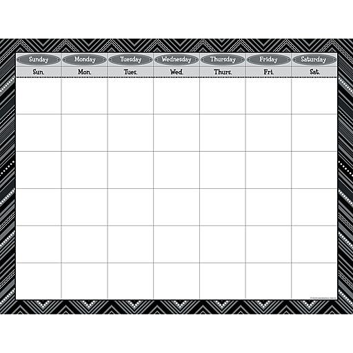 Creative Teaching Press® Calendar Poster Chart, Black and White/Blank