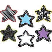 "Creative Teaching Press® 6"" Designer Cut-Outs, Black and White Stars"
