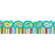"Creative Teaching Press 6585 52.5"" Scalloped Dots on Turquoise Perfect Pairs Border Set, Multicolor"