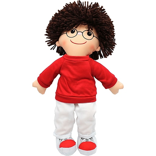 Dexter Educational Toys Boy Soft Cuddly Doll With Glasses, 19""