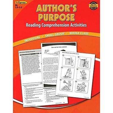 Edupress® Authors Purpose Reading Comprehension Activity Book, Reading Levels 2.0 - 3.5