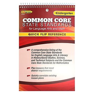 Edupress® Common Core Standards F/Language Arts & Math Quick Flip Reference, Grade K