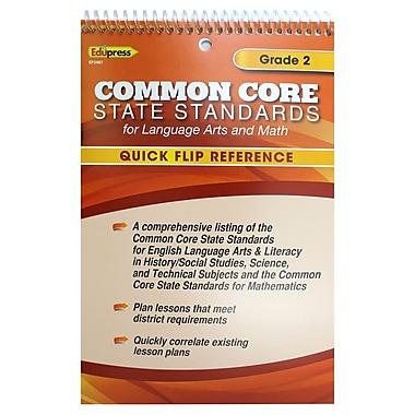 Edupress® Common Core Standards F/Language Arts & Math Quick Flip Reference, Grade 2