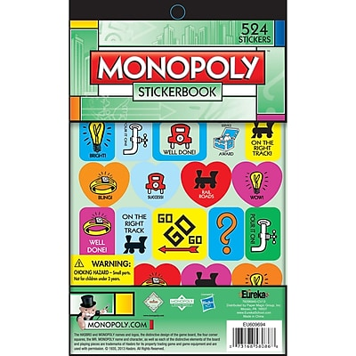 Eureka® Sticker Book, Monopoly™