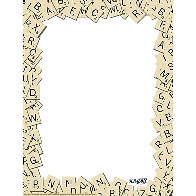 Eureka® Scrabble™ Letter Tiles Computer Paper, 50/Pack